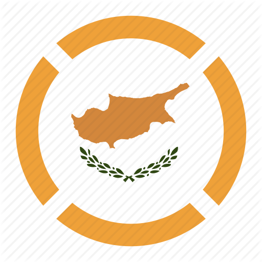 Cyprus Flag location navigation pin country nation 512